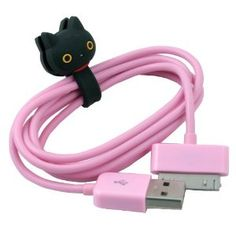 Amazon.com: Black Cat Kutusita Nyanko series Button Cable Winder for iPhone 4: Electronics