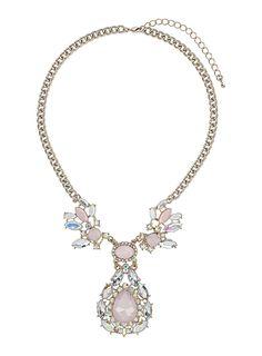 Rhinestone drop necklace #DorothyPerkins
