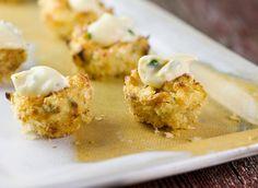Crab Cake Bites!  A great holiday nibble. (Baking Salmon Temperature)