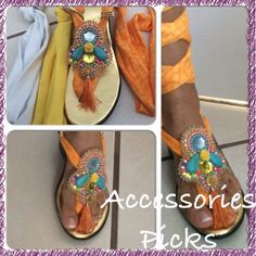 Sandalia lazo embroidery