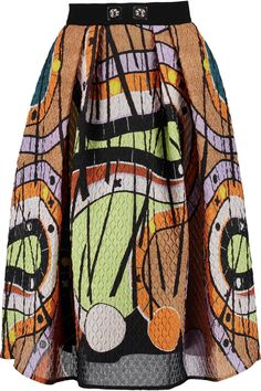 PETER PILOTTO Printed Pleated Cloqué Skirt. #peterpilotto #cloth #skirt