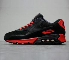 Nike Air Max 90 Essential-Black-Anthracite-Sunburst