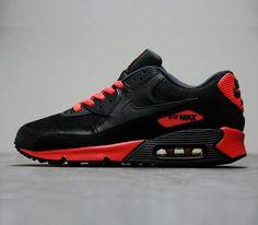 Nike Air Max 90 Essential-Black-Anthracite-Sunburst