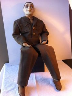 "WW2 Soldier Boudoir Doll - 1944 Liberation of Paris 23"" tall Eisenhower jacket"