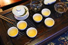 Traditional tea at Suwei Cha Hao. Image by Qin Xie / Lonely Planet