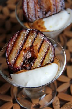 Grilled Peaches with Balsamic Reduction and Lemon Curd Yogurt