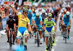 Christopher Juul Jensen of Tinkoff Saxo in the leaders yellow jersey celebrates winning the 2015 Tour of Denmark after stage 6 of the 2015 Tour of Denmark (Post Danmark Rundt), a 150km stage from Hillerod to Frederiksberg, on August 8, 2015 in Copenhagen, Denmark. #postdkrundt #rm_112
