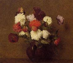 Flowers Poppies - Henri Fantin-Latour