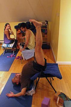 53 Best Iyengar Yoga Chair Inversions Images Chair Yoga Iyengar