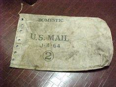 Vintage U s Domestic USPS Mail Carrier Bag Register Canvas Sack 2 Large J 4 64 | eBay