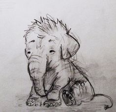Baby elephant. Cutest drawing I've ever seen
