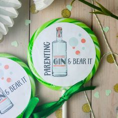 'Gin And Bear It' Mother's Day Boozy Gin Lollipop by Holly's Lollies, the perfect gift for Explore more unique gifts in our curated marketplace. Gifts For Gin Lovers, Gin Gifts, Gifts For Mum, Mother Day Gifts, Sweetie Cones, Giant Lollipops, Elderflower, Perfect Gift For Her, Love You More Than
