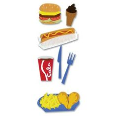 Jolee's Boutique® Stickers, Fast Food