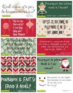Étiquettes surprises de Noël pour les lunchs des enfants - Wooloo