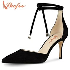 4057b685f93 2017 Shofoo Top Quality Shoes Superstar Women s Genuine Leather 7 5cm Kitten  Heels Pumps Summer Sandals