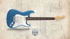 Custom Fender Stratocaster - done through American Design Experience configuration site. Fender Stratocaster Blue, Fender Guitars, Blue Guitar, Design, Cave, American, Guitars, Caves