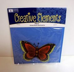 Creative Elements Craft Painted Muslin Red Butterfly