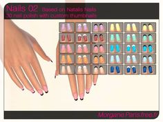 The Sims Resource: Nails 02 by MorganeParis • Sims 4 Downloads