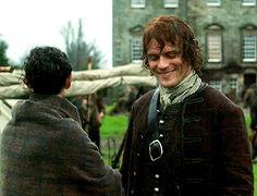 Outlander Gag Reel Season 2 ep13   Sam and Caitriona got the giggles during a serious scene