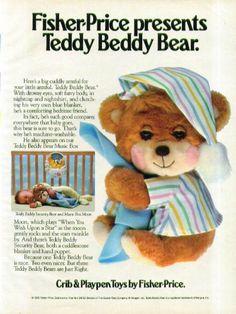 Fisher-Price presents Teddy Beddy Bear ad 1985 by The Jumping Frog, http://www.amazon.com/dp/B00EVU9R9U/ref=cm_sw_r_pi_dp_Fm2Asb1Y2T0D3
