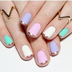 Pastel nail paint.