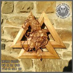 HAND MADE WOOD CARVED PICTURE #Raven #hugin # munin #Parchment #Ragnar #Viking #Odin #Home Decor #Art #Norse #Wood Picture #Pagan Gods #Carving #Wood Work #Heathen #Asatru #Celtic #Norse #Rune #Wall Hanging #Ragnarok #Valkiria #Thor #Thor hammer #rune #Knotwork #Wall art #Berserk #Valknut #Walknut #Fenrir # wood carving #norse décor #yggdrasil #rustic # sculpture #skull #raven #loki #freya #mjolnir #drakkar #drakar #amulet #awe #vegvisir #metallic