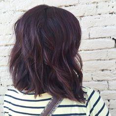 dark mahogany hair