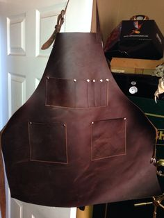 Leather work apron for co worker.  He was happy with his Christmas present!!
