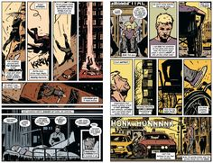 Hawkeye #1 - beautiful pencils by David Aja (reminiscent of David Mazzucchelli's pencils on Batman: Year One  Daredevil: Born Again)