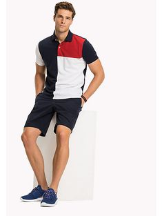 Tommy Hilfiger Colorblock Regular Fit Polo - S Polos Tommy Hilfiger, Tommy Hilfiger Outfit, Tommy Hilfiger Brand, Polo Rugby Shirt, Lacoste Polo Shirts, Polo T Shirts, Polo Shirt Outfits, T Shirt And Shorts, Camisa Polo