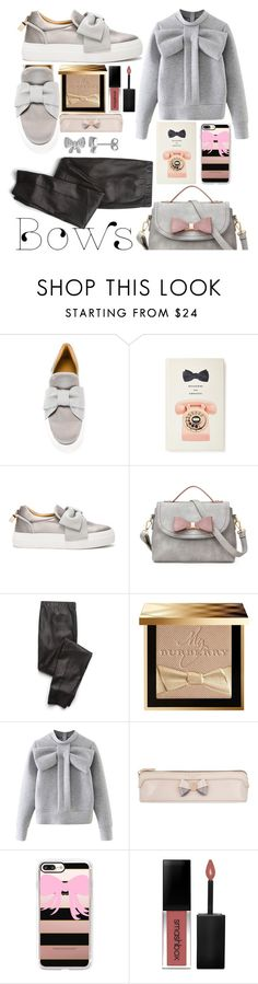 """🎀🎀"" by keepitrealforme ❤ liked on Polyvore featuring BUSCEMI, Kate Spade, Splendid, Burberry, WithChic, Ted Baker, Casetify, Smashbox and Laura Ashley"