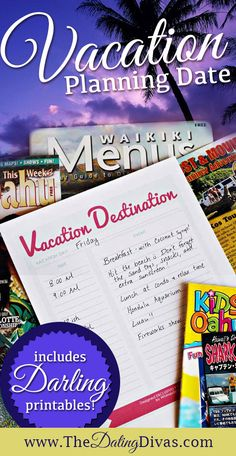 Vacation planning printable!