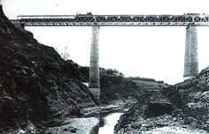 Ferrocarril Utrillas Zaragoza Belchite Puente sobre el río Aguas Vivas | por M.F.U.