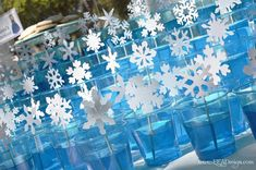 Ultiamte frozen Party Ideas: frozen jello cups for dessert table // MyMommaToldMe.com