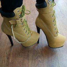 Timberland-like heels     These will kill my feet, but i like them...