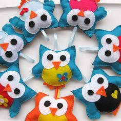 Soft Toys - Cute Felt owls by Mariapalito, via Flickr
