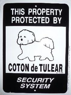 Coton de Tulear sign