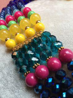 Color Color Color Multi-Strand Statement Necklace