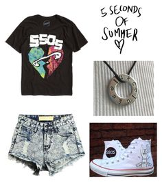 """5sos Concert"" by alyssagrinnell ❤ liked on Polyvore featuring Converse"