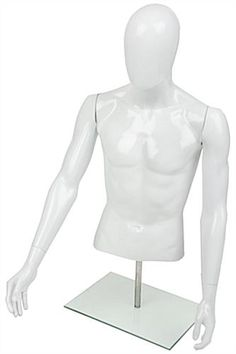 Male Torso Mannequin For Tabletops, Adjustable Height   White. Dress  FormMale ...