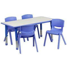 Flash Furniture Rectangular Adjustable Plastic Activity Table Set with 4 School Stack Chairs, 23.625 by 47.25-Inch, Blue Flash Furniture http://www.amazon.com/dp/B00K937RRC/ref=cm_sw_r_pi_dp_bIo2tb0W1WND2193