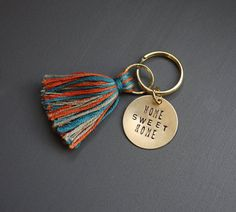 Tassel Key Ring by EightySmithCreative on Etsy