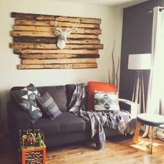 We are loving the way that our client @pandaaaloveee has incorporated The Templeton faux deer head in this gorgeous space! We are in love with the oversized reclaimed wood wall mount! Everything looks beautiful!