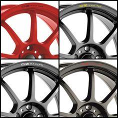 Set Of 4 Oz Racing Carbon Fiber Silver Logo M582 Wheel