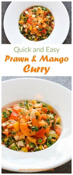 Fruity Prawn and Mango curry cooked in the Tefal Actifry. This quick and easy curry is mild, sweet and family friendly - perfect for a mid-week meal!