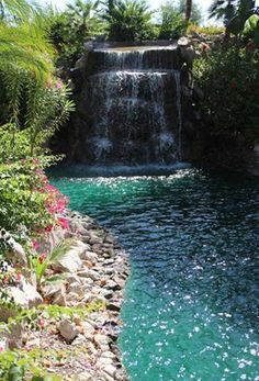 Waterfall at the Phoenician Resort at Camelback Mountain