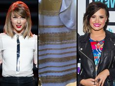 What Color Is This Dress? Taylor Swift, Demi Lovato and More Weigh in on DressGate http://www.people.com/article/what-color-is-this-dress-taylor-swift-demi-lovato-tweet-dressgate
