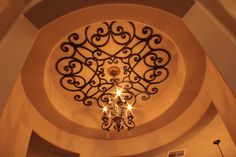 Decorative Faux Wrought Iron Ceiling insert design, great for enhancing any room such as formal dinning rooms and entryways / hallways. Formal Dinning Room, Ceiling Decor, Wrought Iron, Home Interior Design, Home Improvement, Decorative Plates, Woodworking, Indoor, Hallways