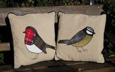 Tartan bird cushions, £46 each from Misbe.co.uk