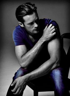 Alexander Skarsgard. unf!  Love this colorization.